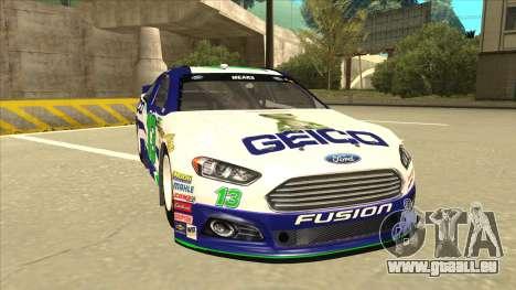 Ford Fusion NASCAR No. 13 GEICO pour GTA San Andreas laissé vue