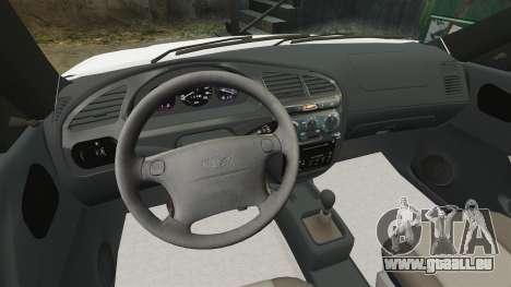 Daewoo Lanos 1997 Cabriolet Concept pour GTA 4 est une vue de l'intérieur