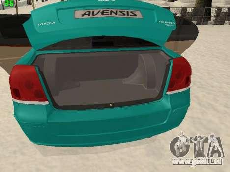 Toyota Avensis 2.0 16v VVT-i D4 Executive pour GTA San Andreas vue intérieure