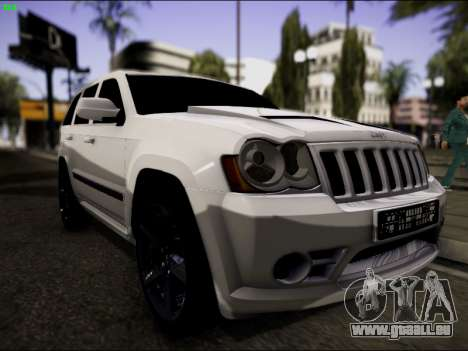 Jeep Grand Cherokee SRT8 pour GTA San Andreas vue arrière