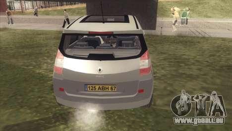 Renault Scenic 2 pour GTA San Andreas vue de droite
