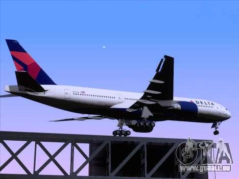 Boeing 777-200ER Delta Air Lines für GTA San Andreas obere Ansicht
