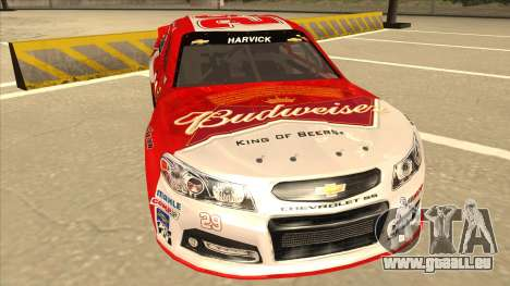 Chevrolet SS NASCAR No. 29 Budweiser pour GTA San Andreas laissé vue