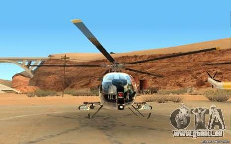 Buzzard Attack Chopper pour GTA San Andreas laissé vue