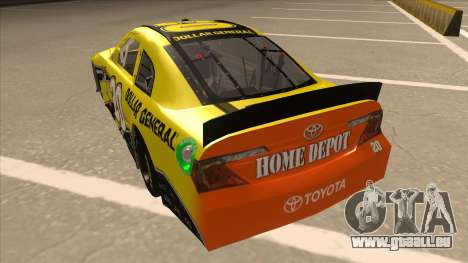 Toyota Camry NASCAR No. 20 Dollar General pour GTA San Andreas vue arrière