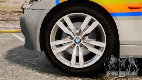 BMW M5 E60 Metropolitan Police 2006 ARV [ELS] pour GTA 4 Vue arrière