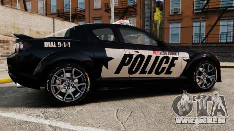Mazda RX-8 R3 2011 Police für GTA 4 linke Ansicht