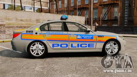 BMW M5 E60 Metropolitan Police 2006 ARV [ELS] pour GTA 4 est une gauche