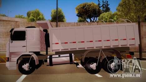 Scania 113H frontale Caçamba BETA pour GTA San Andreas laissé vue