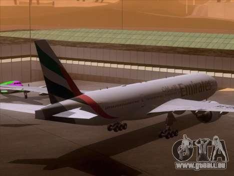 Boeing 777-21HLR Emirates pour GTA San Andreas vue arrière