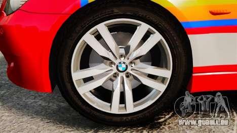 BMW M5 E60 Metropolitan Police 2010 ARV [ELS] für GTA 4 Rückansicht
