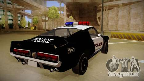 Shelby Mustang GT500 Eleanor Police pour GTA San Andreas vue de droite
