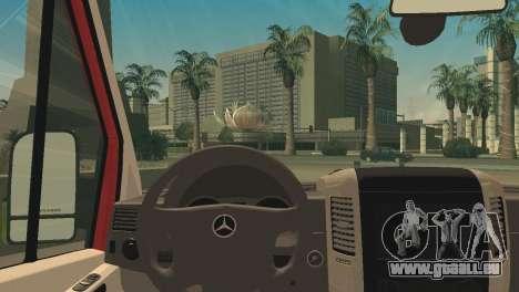 Mercedes-Benz Sprinter für GTA San Andreas zurück linke Ansicht