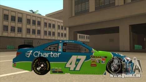 Toyota Camry NASCAR No. 47 Charter pour GTA San Andreas sur la vue arrière gauche