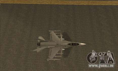 Hydra GTA V pour GTA San Andreas sur la vue arrière gauche