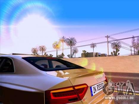 Audi RS5 2012 pour GTA San Andreas vue de dessus