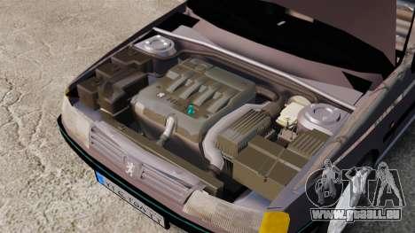 Peugeot 405 GLX pour GTA 4 Vue arrière