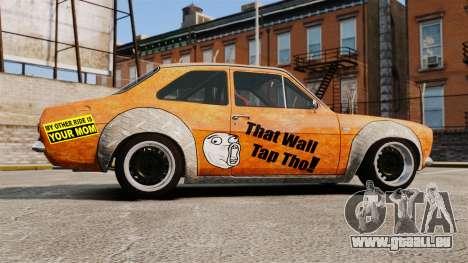 Ford Escort Mk1 Rust Rod pour GTA 4 est une gauche