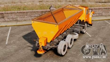 Souffleuse KAMAZ 53215 pour GTA 4 Vue arrière de la gauche