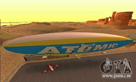 Zepellin GTA V pour GTA San Andreas sur la vue arrière gauche