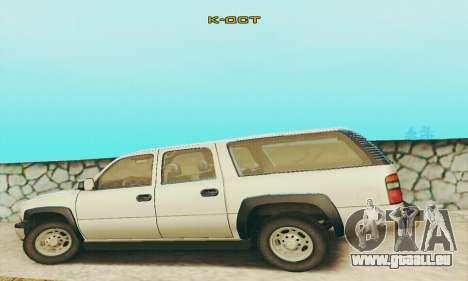 Chevrolet Suburban SAPD FBI pour GTA San Andreas vue intérieure