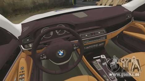 BMW M5 Touring Croatian Police [ELS] pour GTA 4 est une vue de l'intérieur