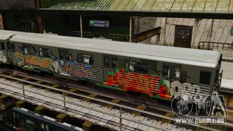 Nouveau graffiti sur la v1 de métro pour GTA 4 secondes d'écran