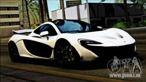 McLaren P1 2014 für GTA San Andreas zurück linke Ansicht
