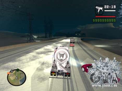 Nouveau compteur de vitesse pour GTA San Andreas sixième écran