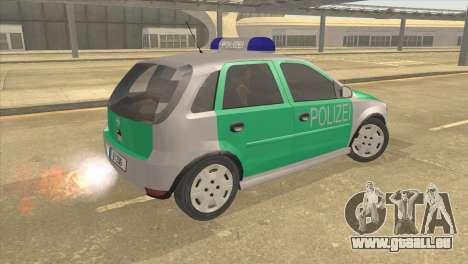 Opel Corsa 1.2 200516V Polizei pour GTA San Andreas laissé vue