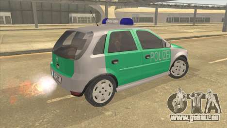 Opel Corsa 1.2 200516V Polizei für GTA San Andreas linke Ansicht