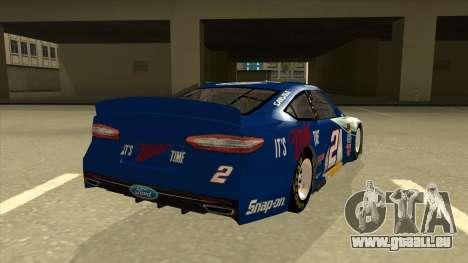 Ford Fusion NASCAR No. 2 Miller Lite für GTA San Andreas rechten Ansicht