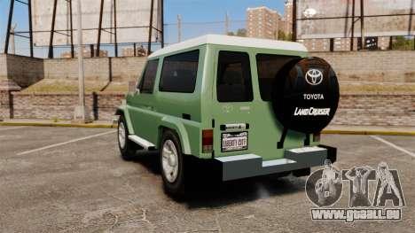 Toyota Land Cruiser 76 2005 pour GTA 4 Vue arrière de la gauche