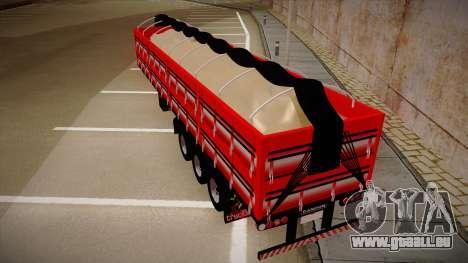 Carreta Randon de Areia pour GTA San Andreas sur la vue arrière gauche