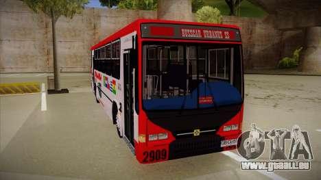 Busscar Urbanus SS Volvo B10 M Busmania pour GTA San Andreas laissé vue
