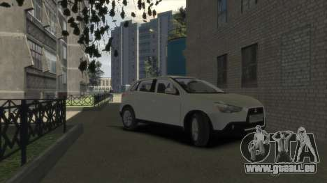 Mitsubishi ASX 2010 pour GTA 4 est un droit