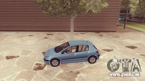 Peugeot 307 pour GTA San Andreas laissé vue