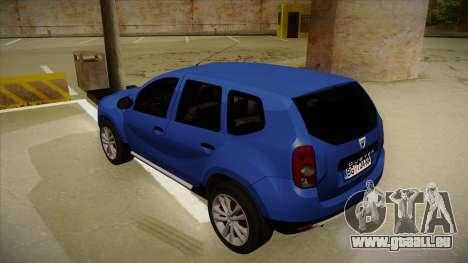 Dacia Duster SUV 4x4 pour GTA San Andreas vue arrière