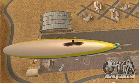Zepellin GTA V pour GTA San Andreas vue arrière