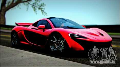 McLaren P1 2014 pour GTA San Andreas vue de droite