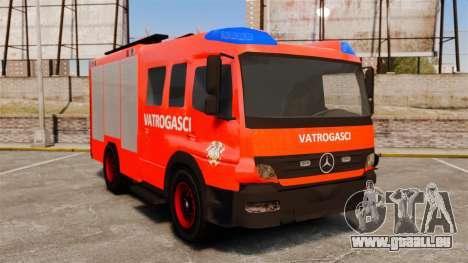 Mercedes-Benz Atego Koprivnica Fire Dept. [ELS] pour GTA 4