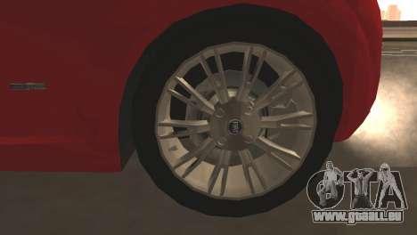 Fiat Grande Punto pour GTA San Andreas vue de dessous