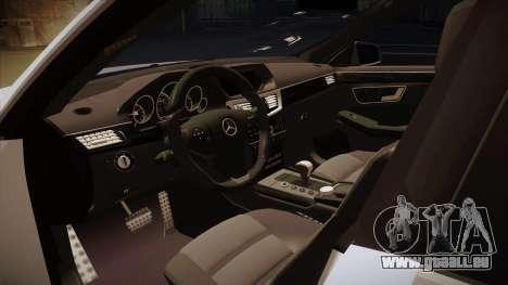 Mercedes-Benz E63 6.3 AMG Tedy pour GTA San Andreas vue intérieure