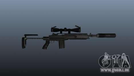 Fusil automatique M14 EBR v1 pour GTA 4 troisième écran