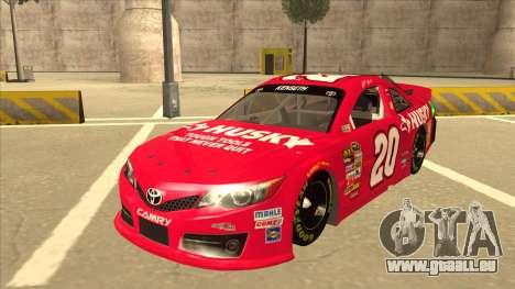 Toyota Camry NASCAR No. 20 Husky pour GTA San Andreas