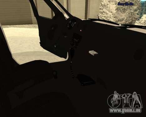 Lada Granta 2190 Polizei V 2.0 für GTA San Andreas obere Ansicht