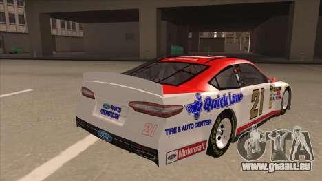 Ford Fusion NASCAR No. 21 Motorcraft Quick Lane pour GTA San Andreas vue de droite
