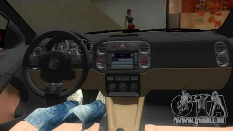 Volkswagen Passat B7 2012 pour une vue GTA Vice City de l'intérieur