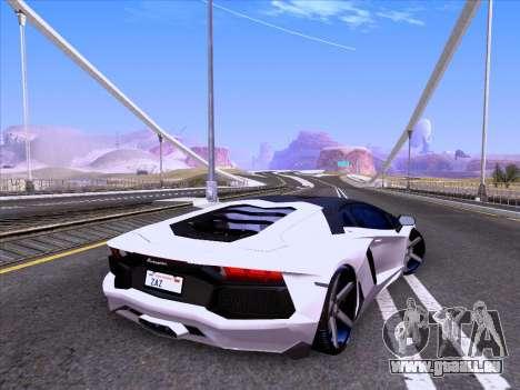 Lamborghini Aventador LP700-4 Vossen 2012 V2.0 F pour GTA San Andreas laissé vue