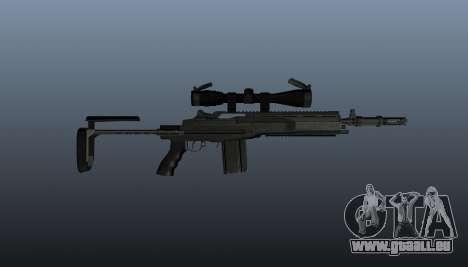 Fusil automatique M14 EBR v2 pour GTA 4 troisième écran